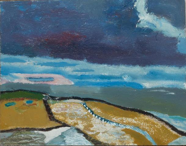 Derek Hyatt (British, born Ilkley 1931) 'The last of the snow'