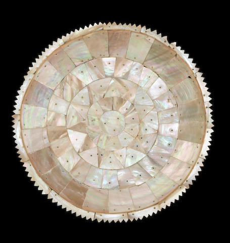 An Indo-Portuguese mother-of-pearl Dish Gujarat, 17th Century