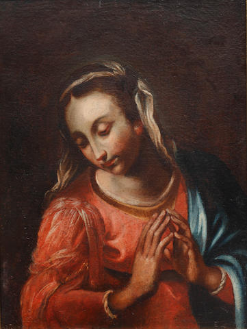 Venetian School, 18th Century Madonna in prayer