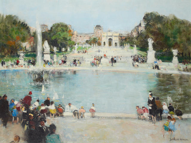 Jules René Hervé (French, 1887-1981) The Tuileries Gardens, Paris