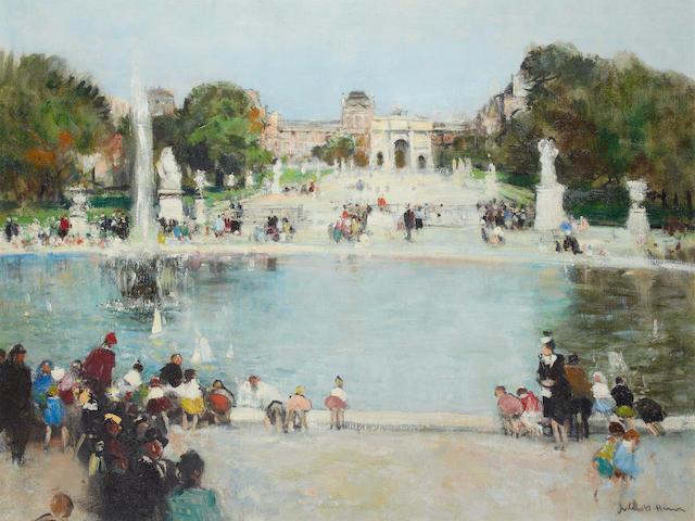 Jules René Hervé (French, 1887-1981) The Tuileries Gardens, Paris