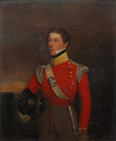 English School, 19th century Portrait of Major Thomas Pakenham Vandeleur, 3rd son of Colonel John Ormsby Vandeleur, of the 5th Dragoon Guards