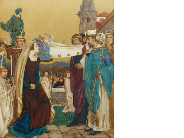 William Russell Flint (Scottish, 1880-1969) The Prioress's Tale, from Canterbury Tales
