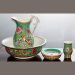 A Losolware Shanghai pattern four piece jug and basin set,