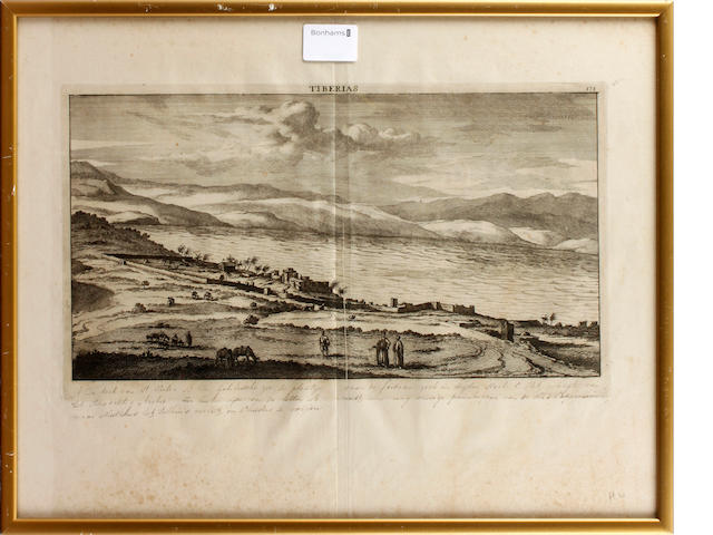 Six 18th copper engravings: views in the Holy Land and Persia