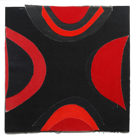 Sir Terry Frost R.A. (British, 1915-2003) Red and Black Collage