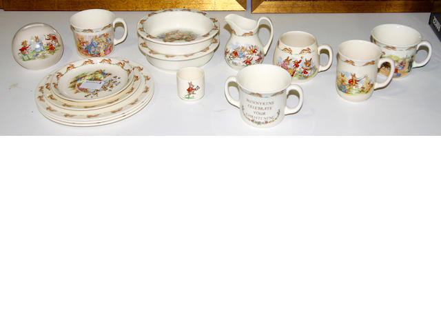 "A collection of Royal Doulton ""Bunnykins"" ware"