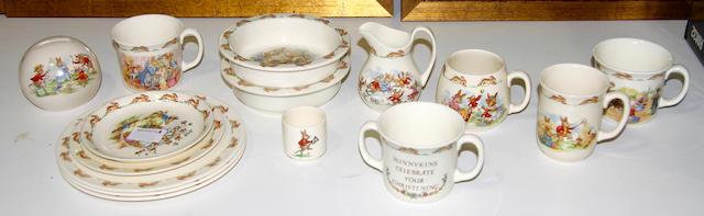 """A collection of Royal Doulton """"Bunnykins"""" ware"""