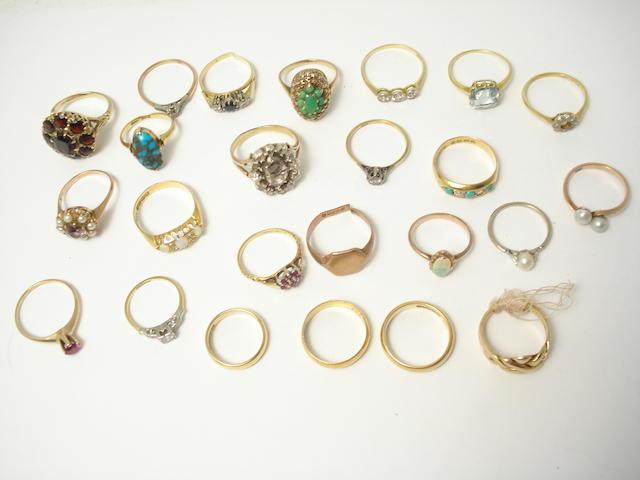 A collection of rings