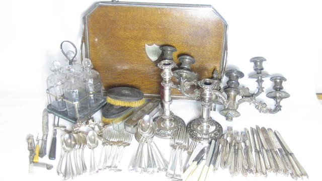 A quantity of silver plate