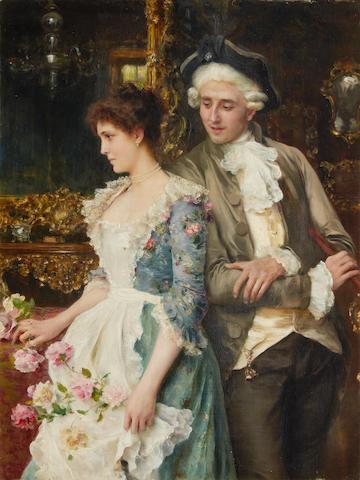 Federico Andreotti (Italian, 1847-1930) Flirtation