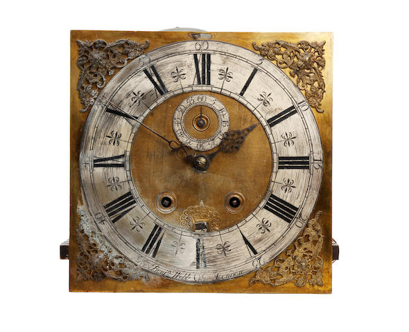An early 19th century long case clock movement Benjamin Webb, London.