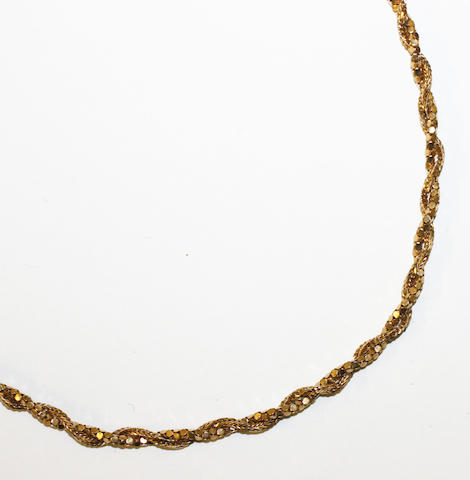 A fancy rope-twist necklace,