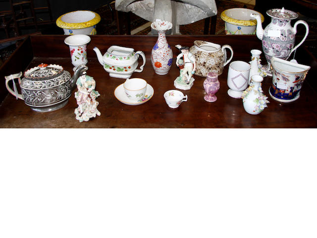 A group of miscellaneous ceramics,