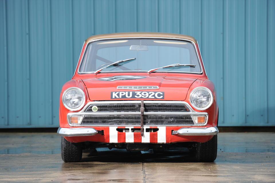 The ex-Sir John Whitmore, Alan Mann Racing, European Touring Car Championship-winning,1965 Lotus Cortina Competition Saloon  Chassis no. BA74EU59019 Engine no. LP2864LBA