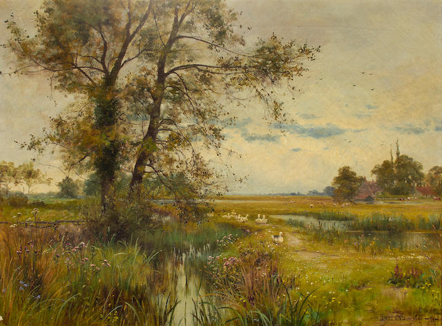 Thomas Tayler Ireland (British, active 1894-1921) Summer pastoral