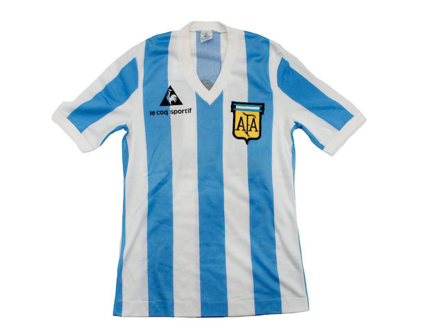 1979/80 Maradona match worn Argentina shirt