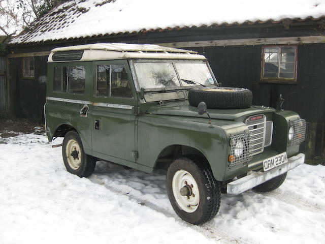 "1973 Land Rover Series III 88"" Station Wagon  Chassis no. 90107396A"