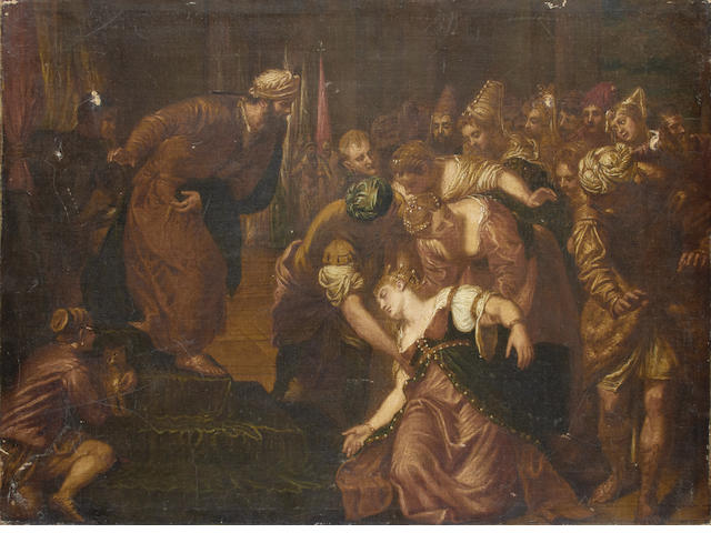 After Domenico Robusti, called il Tintoretto, 18th Century Esther before Ahasuerus unframed