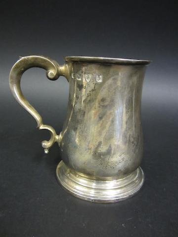 A silver baluster mug by John & Joyce Lowe, Chester 1962