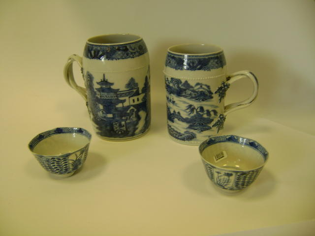 A group of Chinese export wares Qing Dynasty