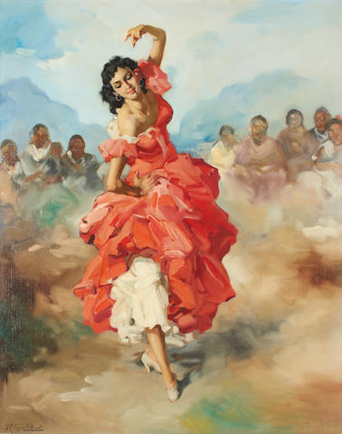 Francisco Rodriguez San Clement (Spanish, 1861-1956) Danseuse Jupon