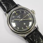 Smiths. A stainless steel manual wind military issue wristwatchMovement No.60466E, Circa 1945