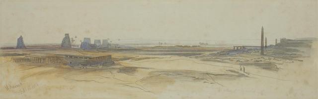 Edward Lear (British, 1812-1888) El Karnak