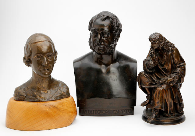 A small collection of bronzes