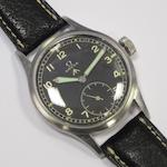 Omega. A stainless steel military issue manual wind wristwatch Case No.10685602, Movement No.10302878, Circa 1944