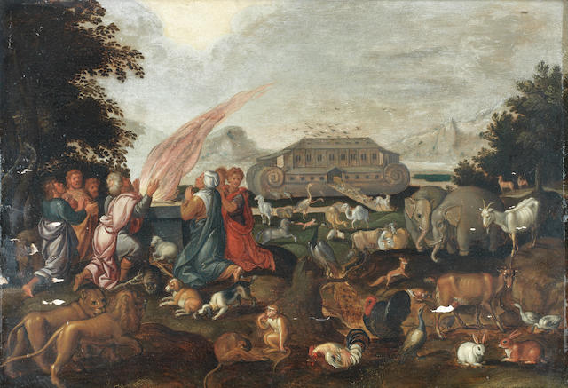 Attributed to Jacob Bouttats (active Antwerp, 1700) The Sacrifice of Noah