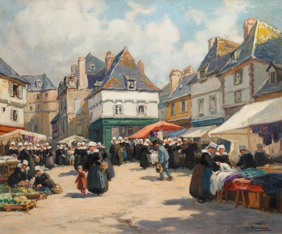 Henri Alphonse Barnoin  (French, 1882-1935) Marche en Bretagne