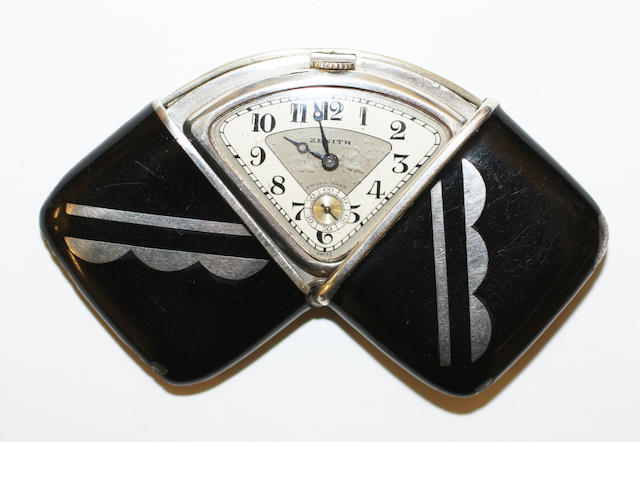Zenith: An Art Deco enamel travel watch,