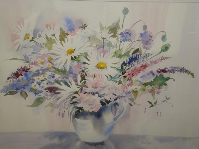 Jill Bays Summer Flowers in a Vase