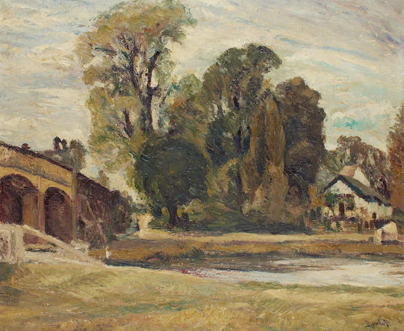 Ronald Ossory Dunlop NEA, ARA, RBA (British, 1894-1973) Near Kingston upon Thames