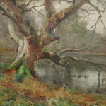 Mildred Anne Butler (Irish, 1858-1941) Willow by the water's edge