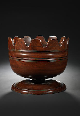 A fine late 17th century lignum vitae monteith