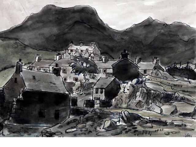 Sir Kyffin Williams R.A. (British, 1918-2006) 'Blaenau Ffestiniog'