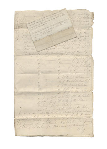SCOTT (WALTER) File of papers relating to the authorial career of Walter Scott, in relation to his publishers, Archibald Constable and Robert Cadell, and to his printers, James Ballantyne & Co