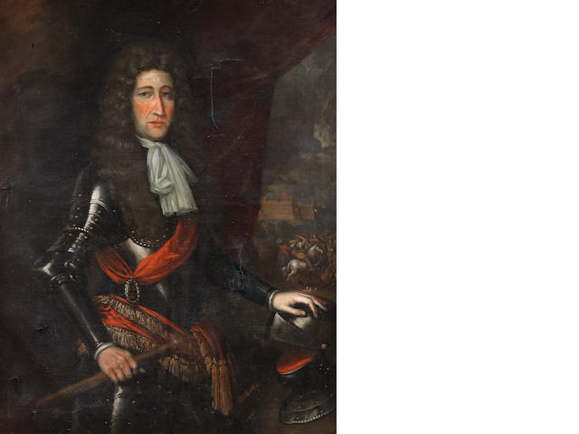English School, late 17th Century Portrait of a gentleman, previously identified as Sir Nicholas Slanning, three-quarter-length,