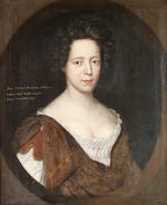 English School, 17th Century Portrait of Jane Andrew, bust-length, in a brown dress, within a painted oval ; and  (2)