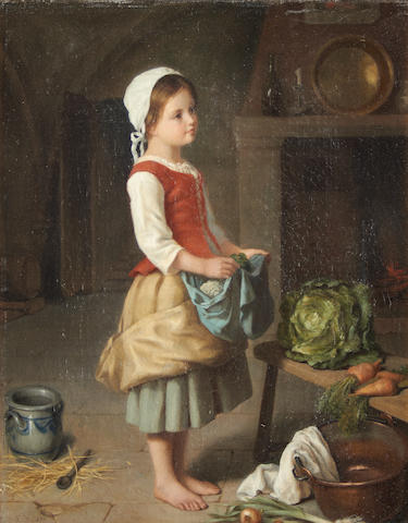 Continental School, 19th Century The young kitchen maid