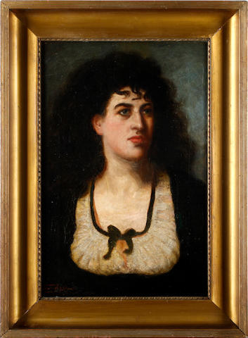 Dover Wilson Portrait of a lady in a black dress
