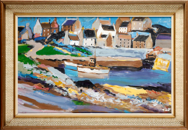 Manner of Donald McIntyre, 20th Century The Old Harbour, Banff, Aberdeenshire