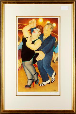 Beryl Cook (British, 1926-2008) Dirty Dancing