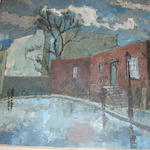 20th Century Russian school, Street scene