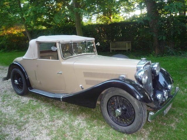 1938 AC 16/60hp Drophead Coupé  Chassis no. L617 Engine no. UMB 571