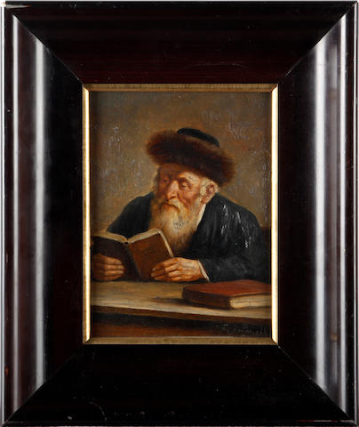 L. Yudovin Paneth (Russian) Scholar reading the Torah