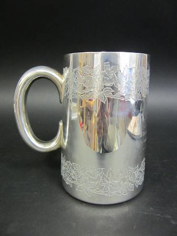 A Victorian silver presentation mug by Stephen Smith, London 1877