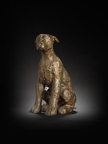 Dame Elisabeth Frink R.A. (British, 1930-1993) Dog 28.4 cm. (11 1/8 in.) high